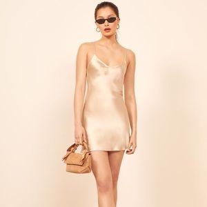 Reformation Rosa Silk Mini Dress NWOT